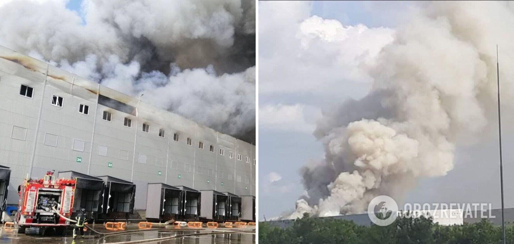 Під Одесою сталася масштабна пожежа на складах АТБ, з вогнем боролися десятки пожежних. Фото і відео