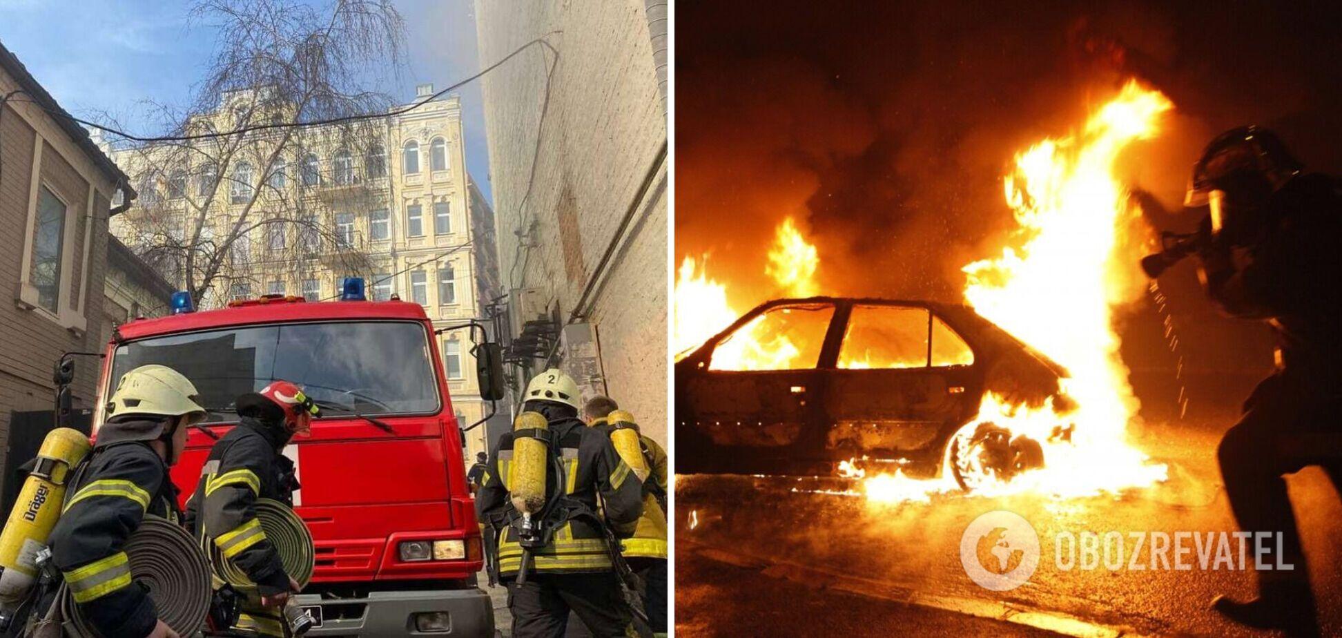 В Киеве подожгли автомобиль посольства Грузии