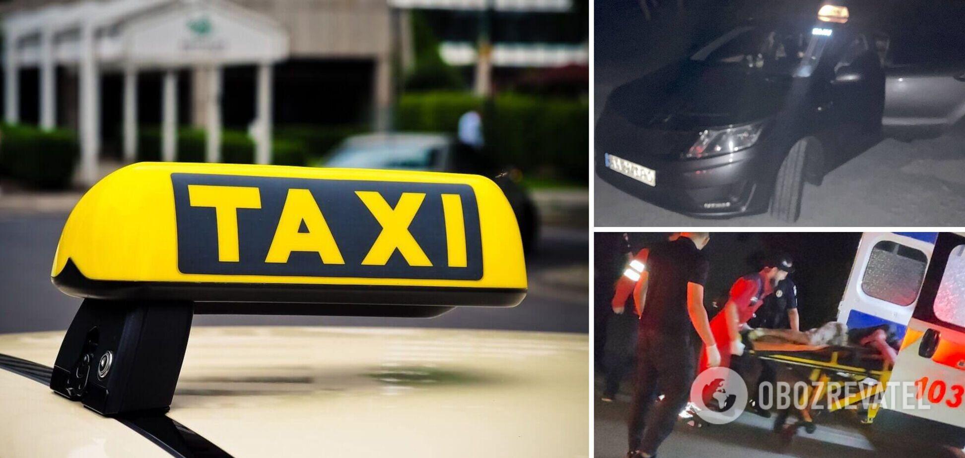На Київщині пасажир побив та порізав ножем таксиста: він відмовився скоротити дорогу. Фото та відео