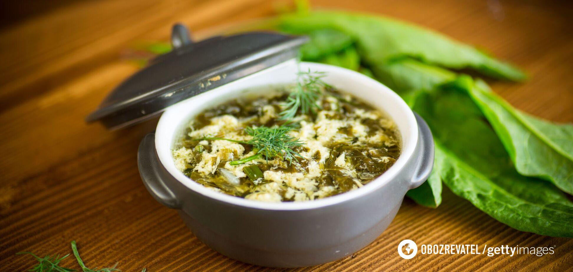 Вкусный суп со щавеля