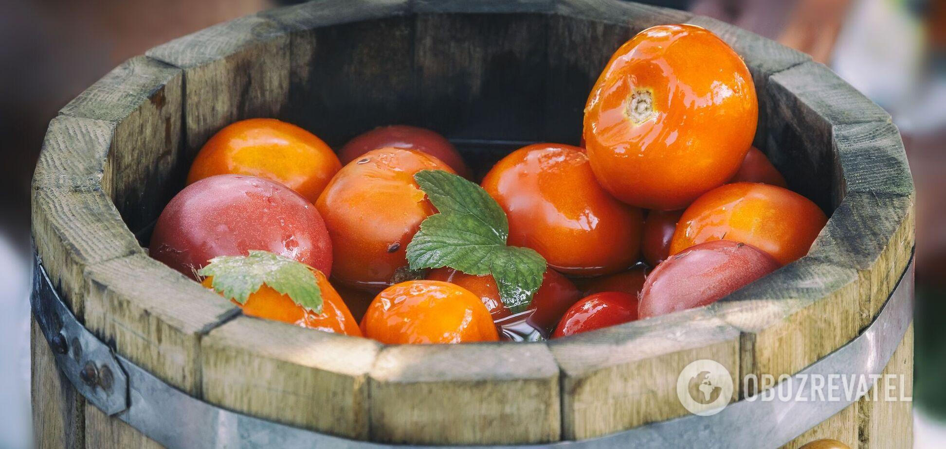 Солоні помідори