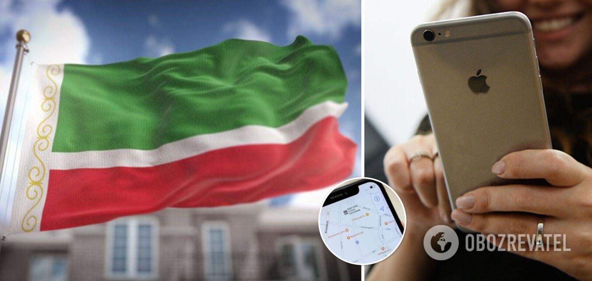 В Apple Чечня стала відображатися як Ічкерія на картах українською мовою