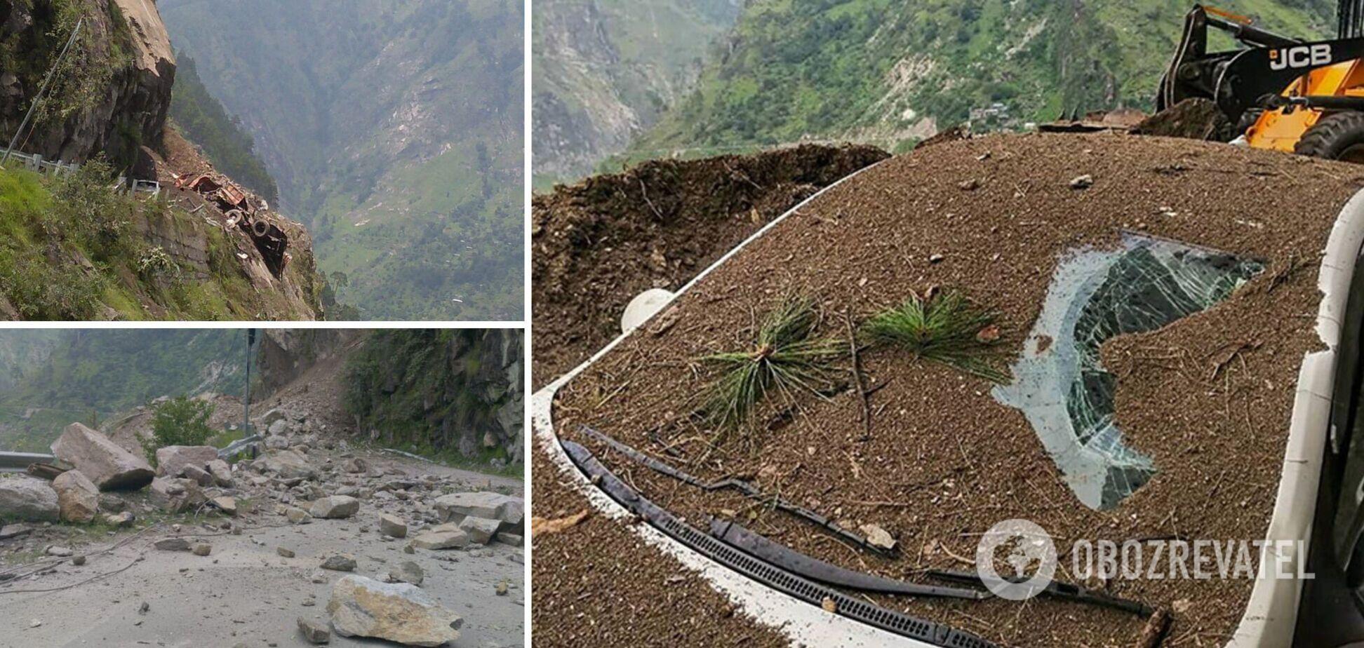 В Індії зсув зійшов на дорогу, є загиблі, десятки людей опинилися під завалами. Фото