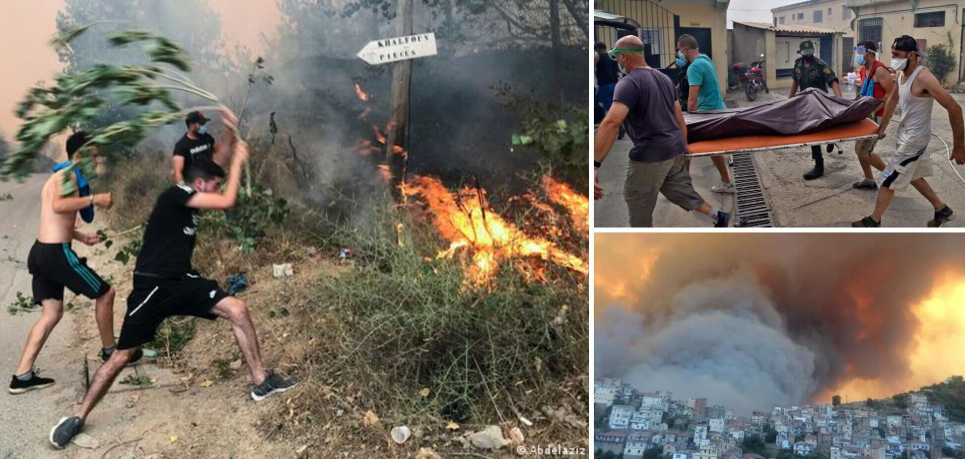 В Алжирі через масштабні лісові пожежі небо стало червоного кольору, загинули десятки людей. Фото і відео