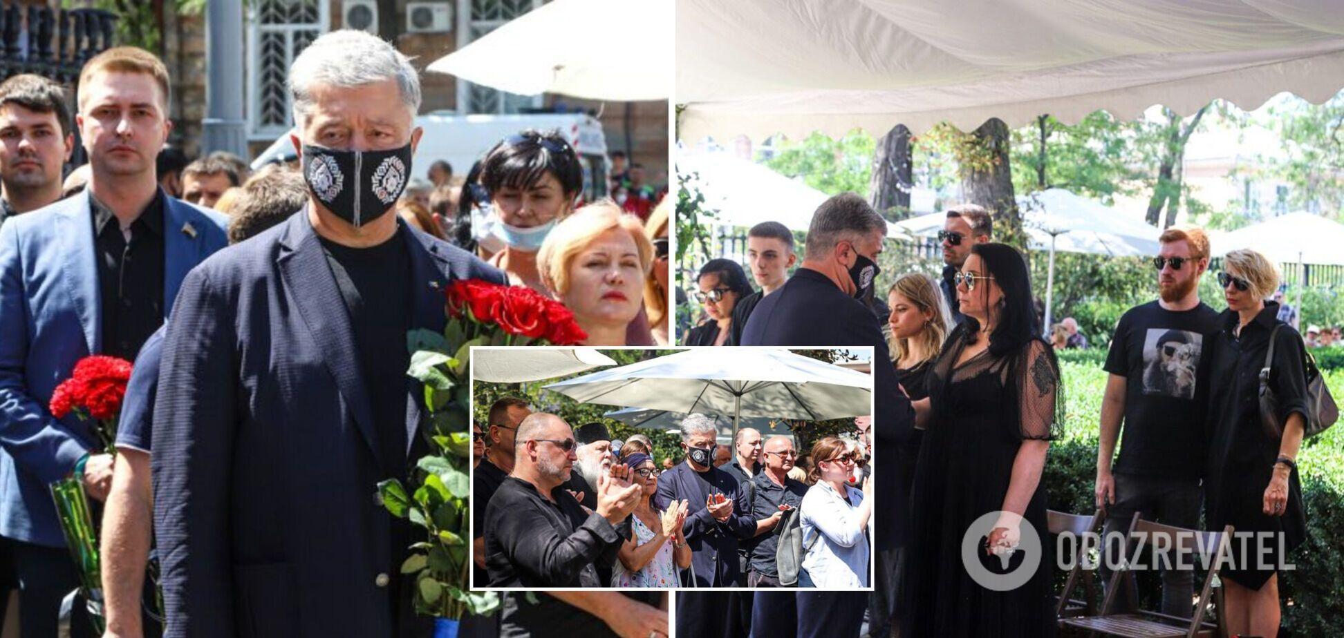 Порошенко присоединился к церемонии прощания с Александром Ройтбурдом в Одессе
