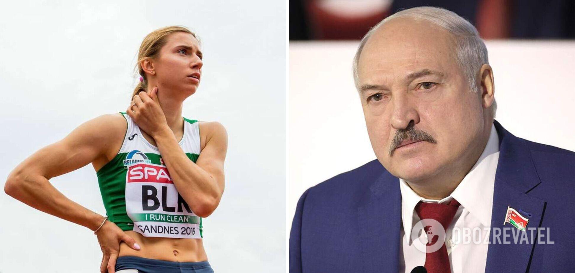 Христина Тимановська й Олександр Лукашенко