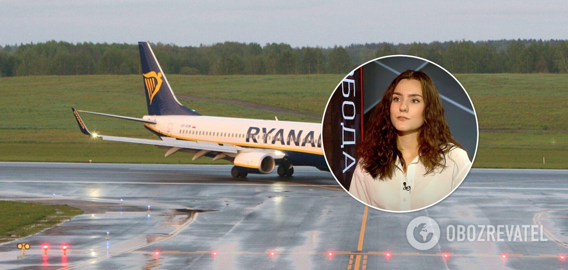 Девушка Протасевича заявила госТВ Беларуси, что к посадке самолета Ryanair причастны его экс-коллеги. Видео