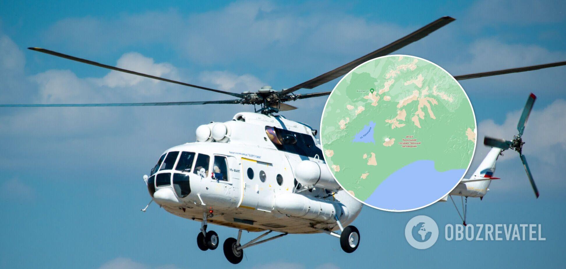 У Росії впав вертоліт із туристами, є загиблі й ті, що вижили. Фото, відео та всі подробиці
