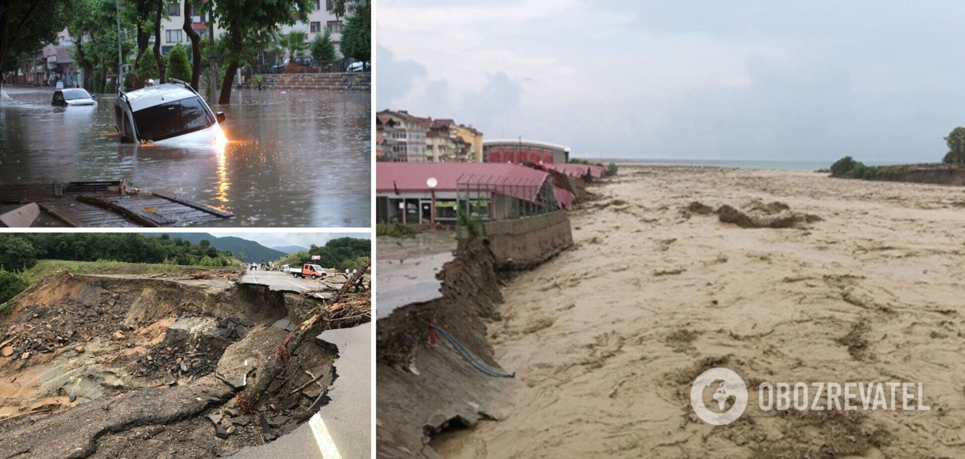 У Туреччині потужні повені зруйнували дороги і мости, загинули десятки людей. Фото і відео