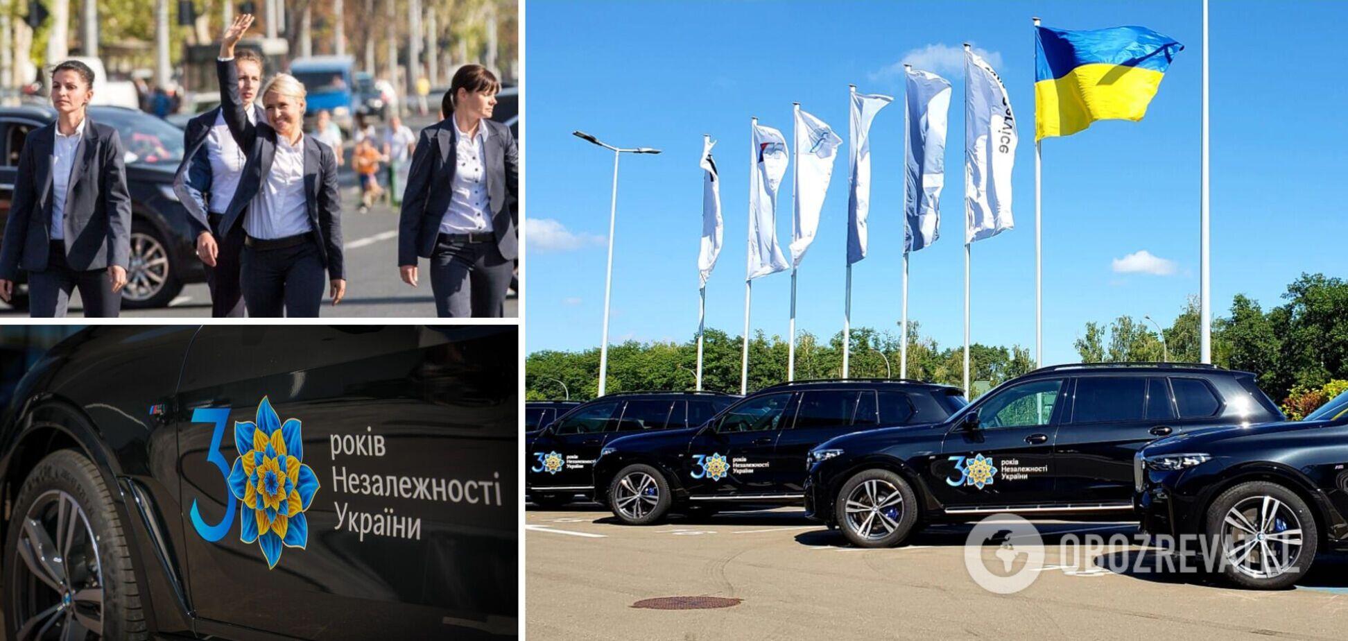 В Украине для охраны иностранных делегаций на День Независимости арендовали десятки авто. Фото и подробности