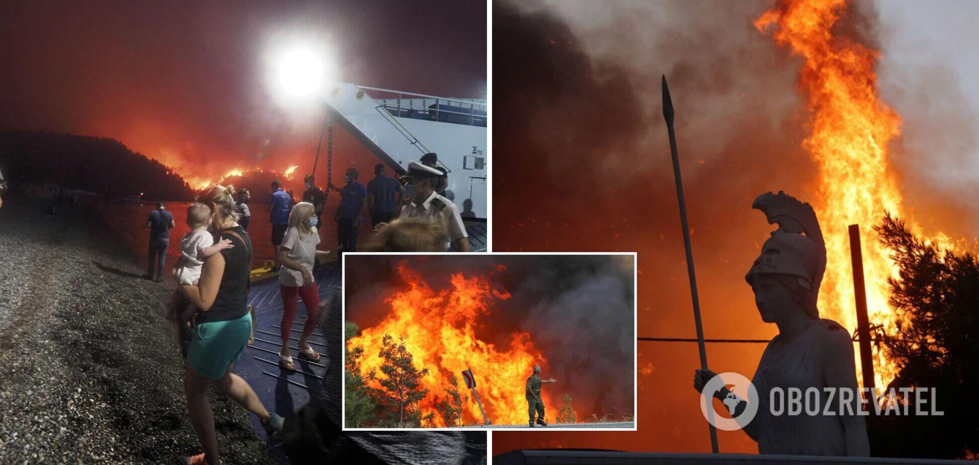 В Италии бушуют лесные пожары, в огне погибли четыре человека. Видео