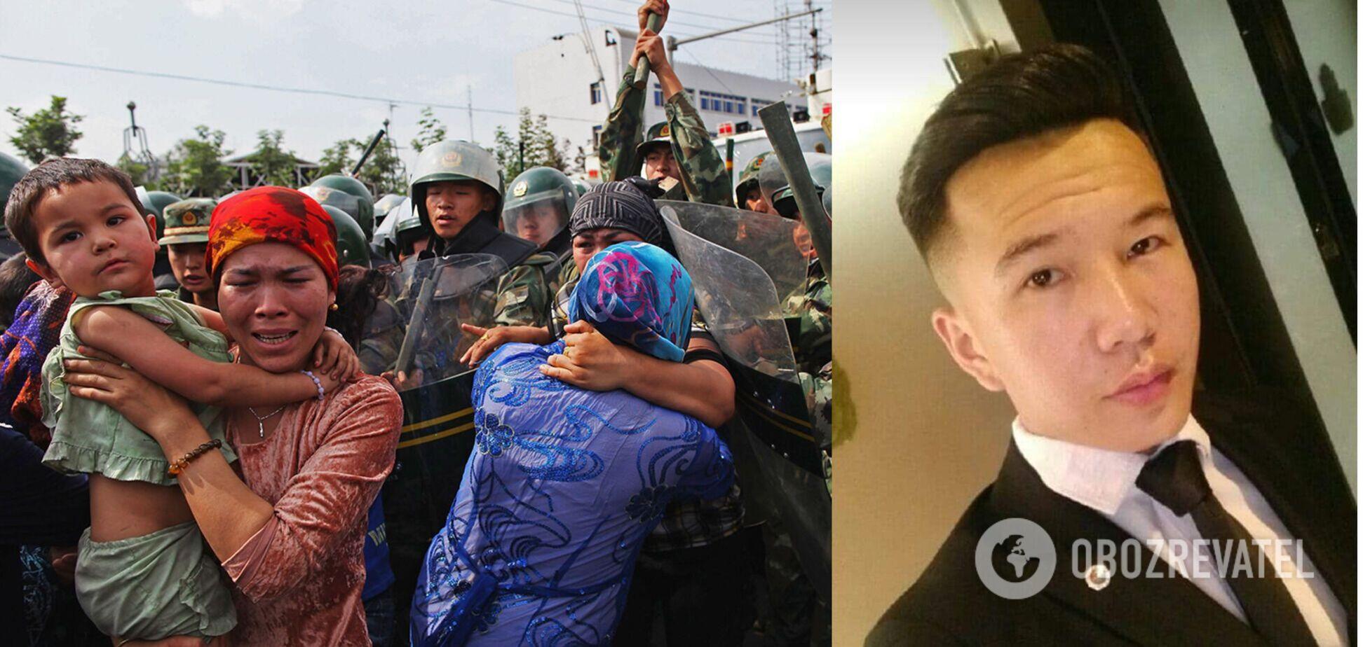 Хлопець виступав на захист уйгурів від 'комуністичного геноциду'