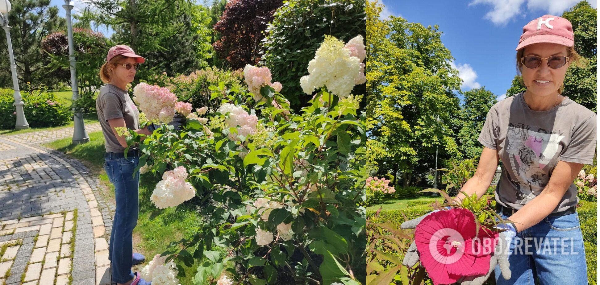 Жена Порошенко показала волонтеру мастер-класс по садоводству. Фото и видео