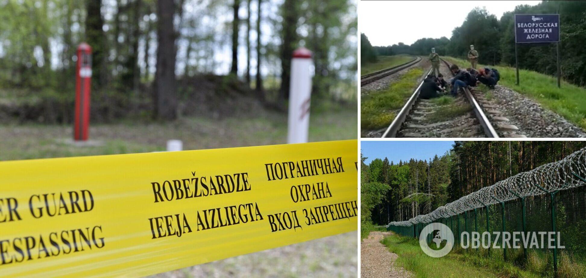 Що чинять на кордоні силовики Лукашенка: у Латвії показали відео з мігрантами