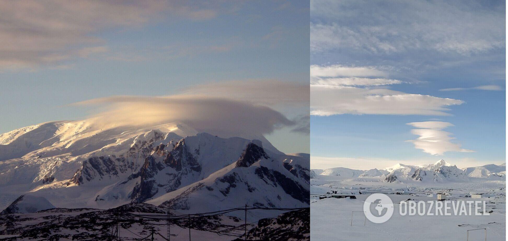 Українські полярники помітили над Антарктидою незвичні хмари-'НЛО'. Фото
