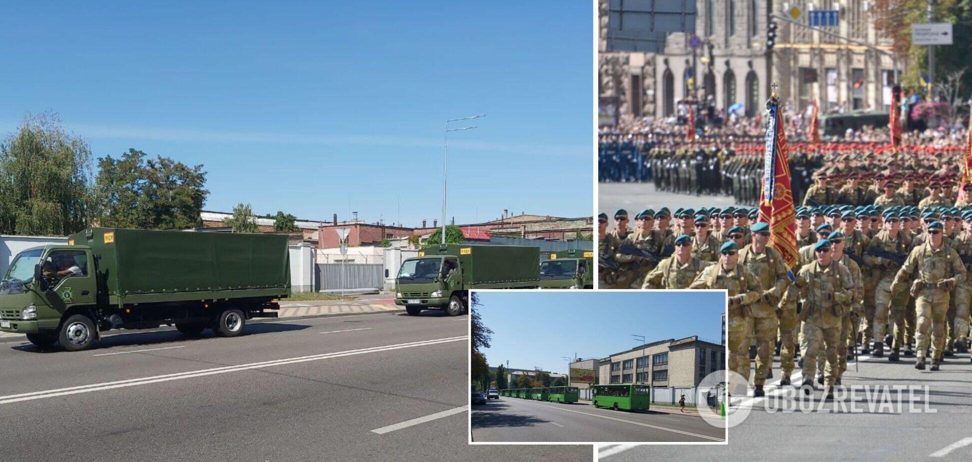 Появились фото и видео с украинскими военным, которые готовятся к параду в Киеве