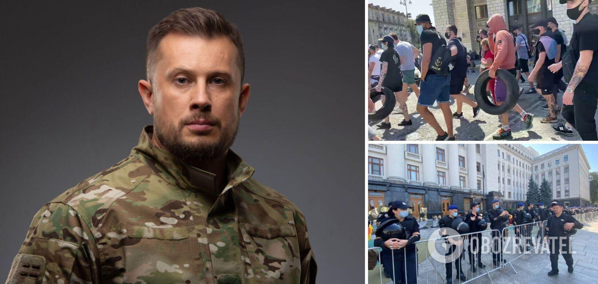 Билецкий – о задержании активистов 'Нацкорпуса': сегодня будет горячо. Видео