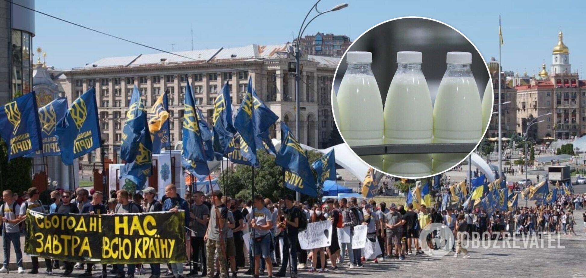 'Нацкорпус' обвинили в краже молока