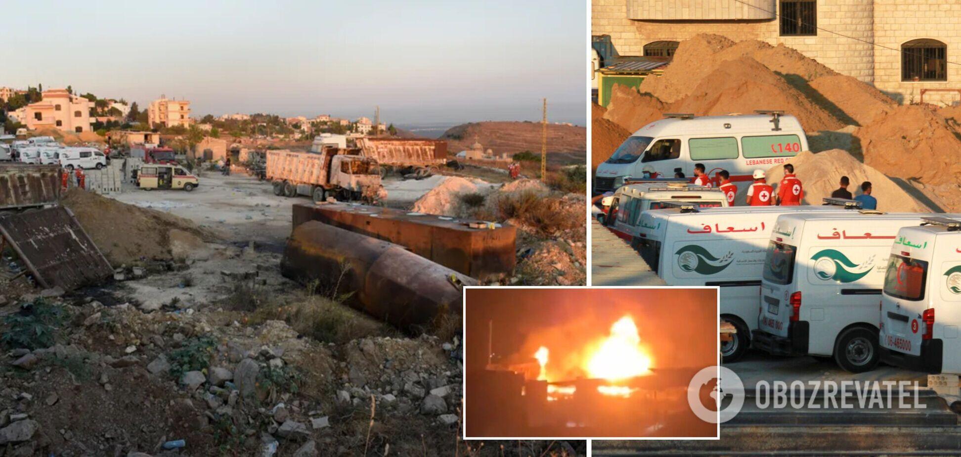 В Ливане взорвался топливный резервуар: 28 погибших, десятки раненых. Фото и видео ЧП