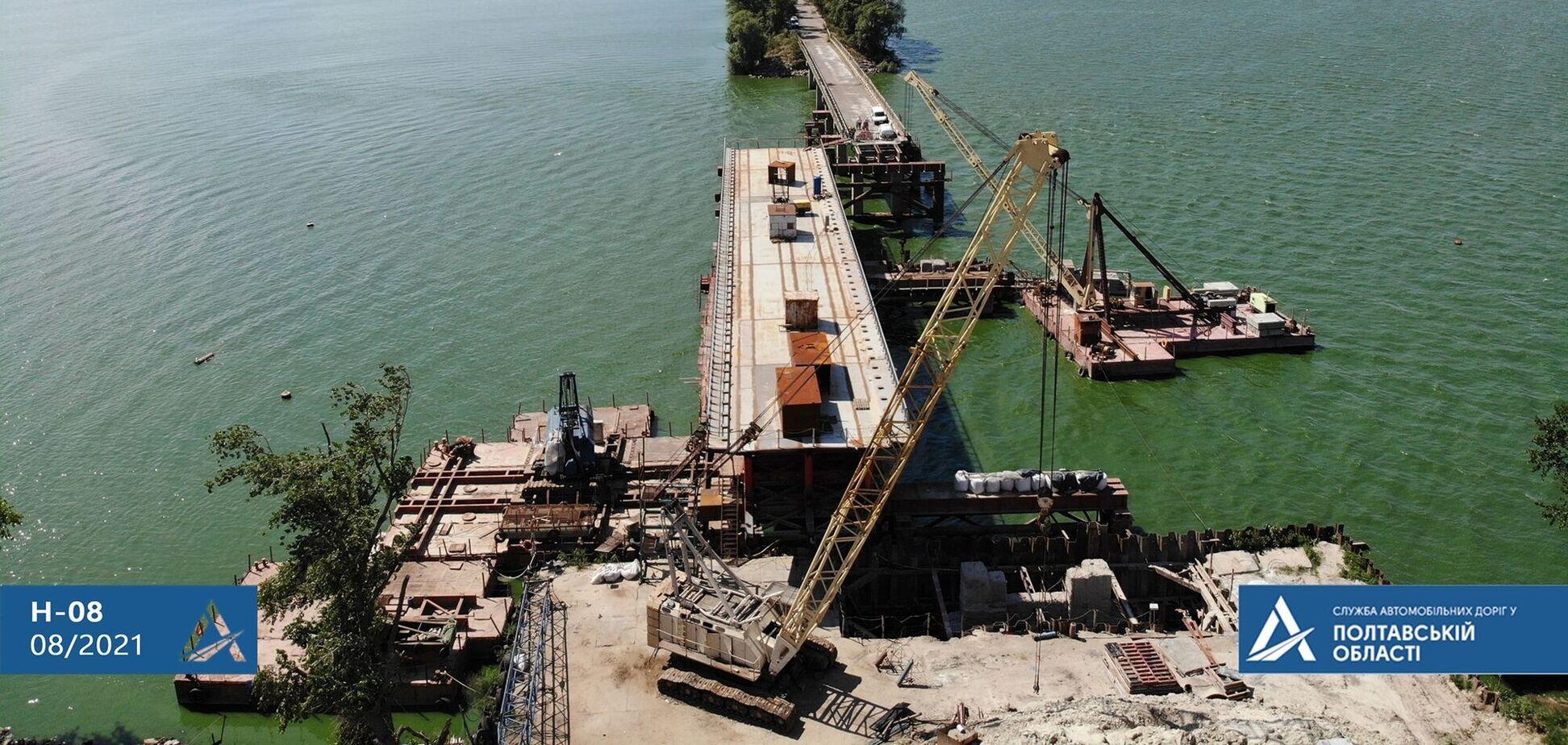 На Полтавщині почали новий етап 'Великого будівництва' мосту через Сулу