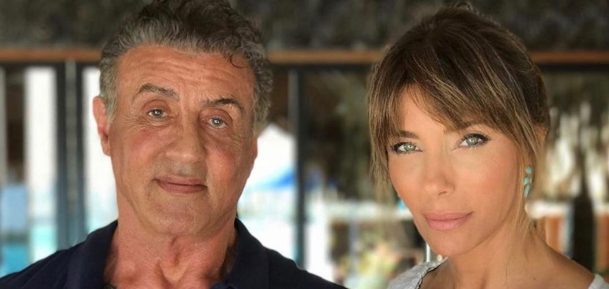 Сильвестр Сталлоне оприлюднив рідкісне фото з дружиною, молодшою на 22 роки
