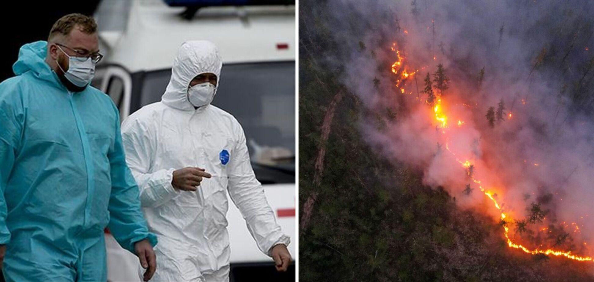 Россиян бросили в огонь коронавируса и лесных пожаров