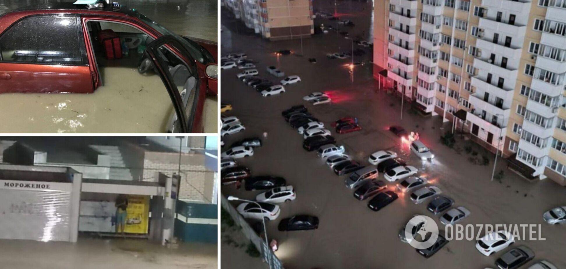 В России из-за мощных ливней затопило город, людей призвали готовиться к эвакуации. Фото и видео
