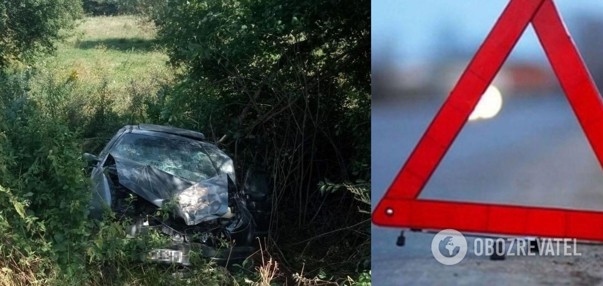 На Львовщине авто слетело в кювет, много пострадавших. Фото