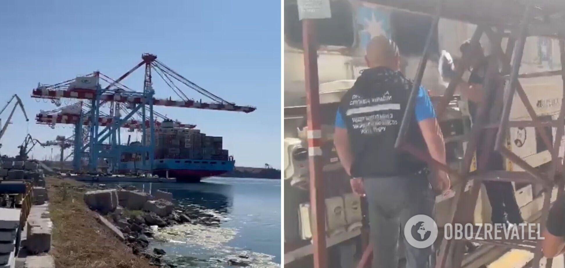В порту нашли наркотики в контейнере