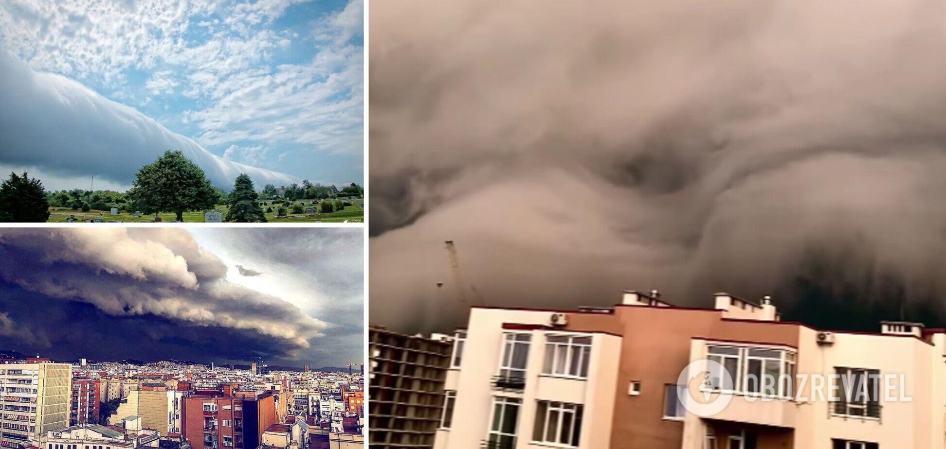 В небе над Львовом появилось гигантское грозовое облако: синоптик дала объяснение. Видео
