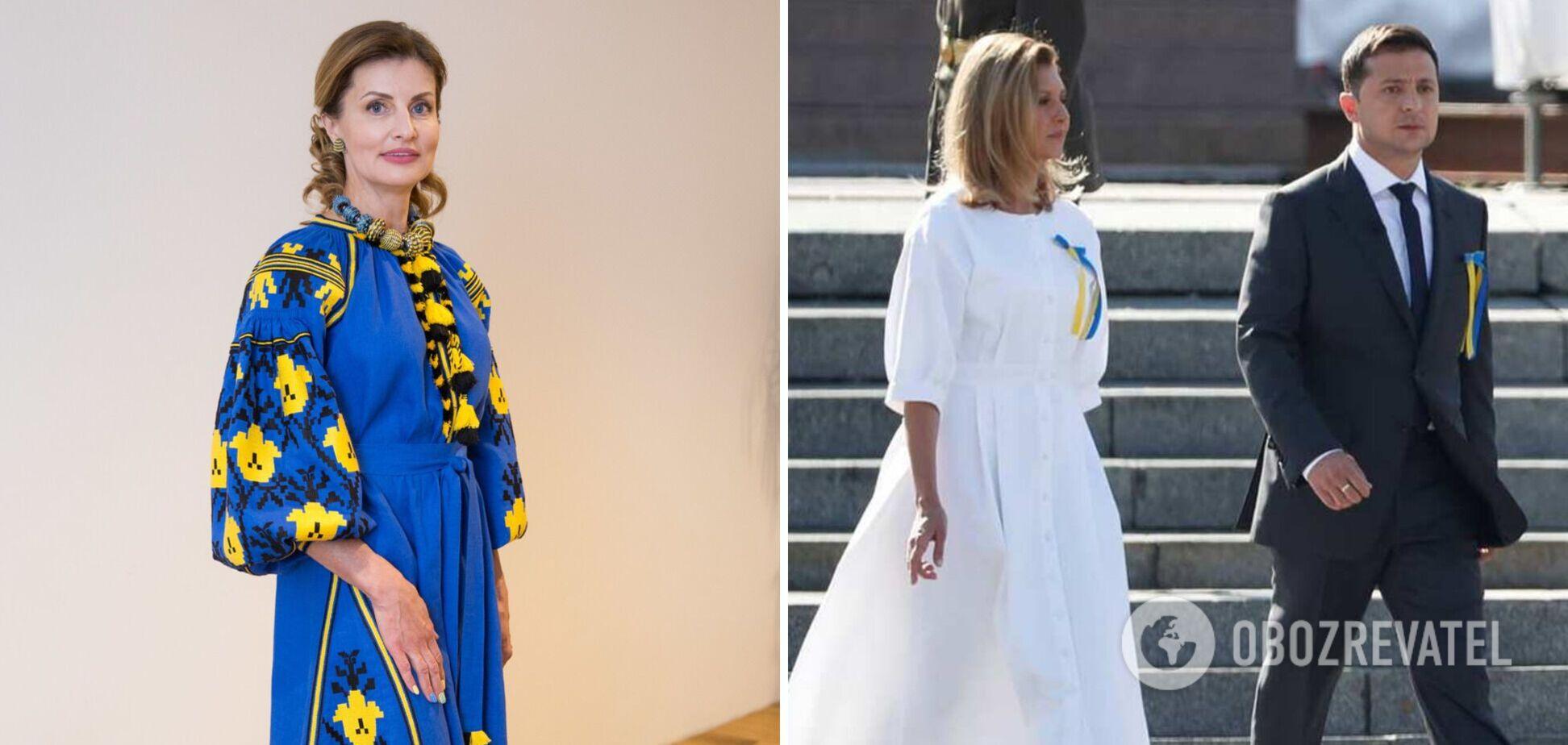 Как Елена Зеленская и Марина Порошенко одевались на День Независимости раньше. Фото