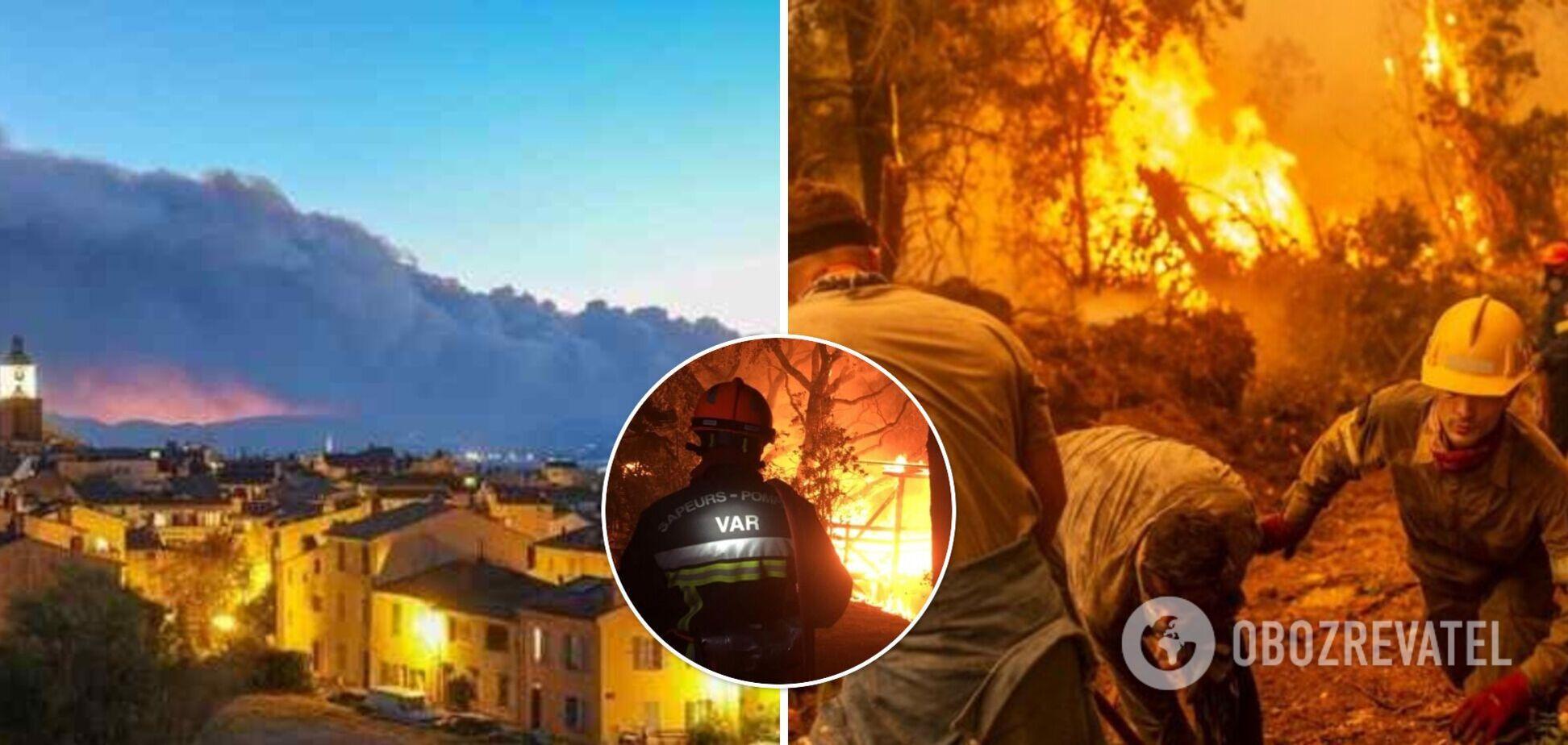Из-за пожаров на юге Франции власти эвакуировали тысячи людей