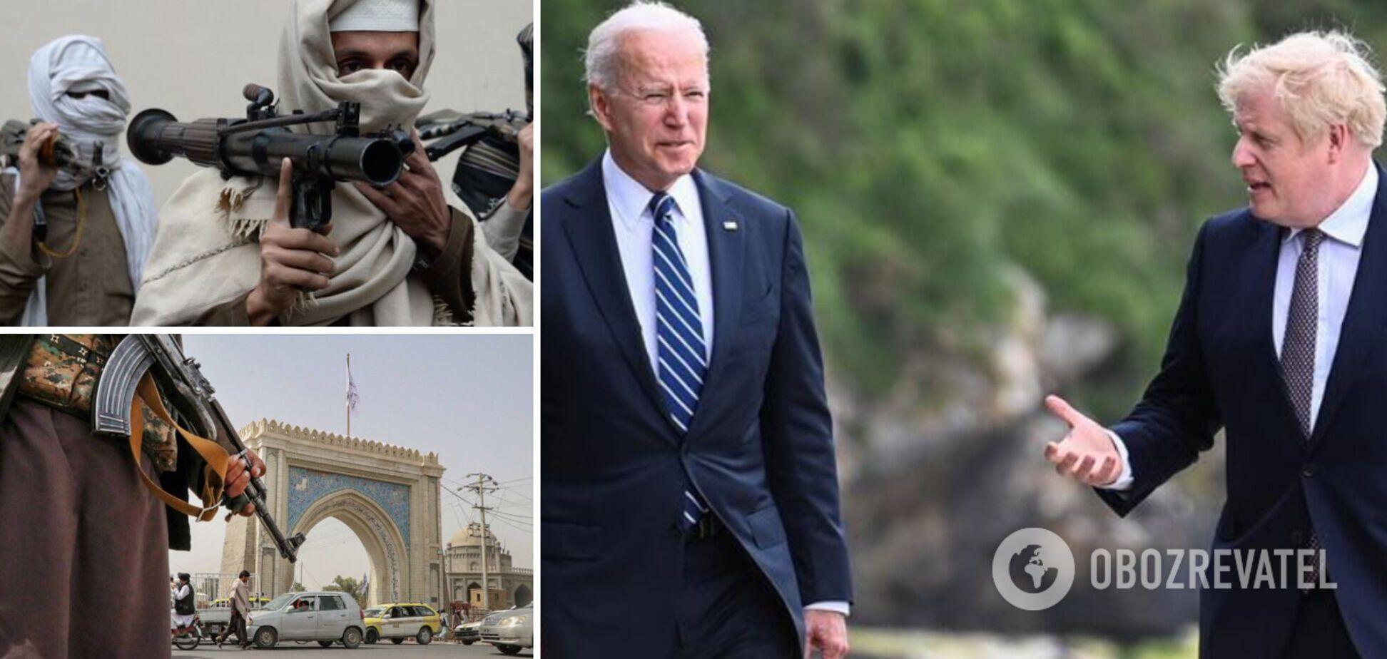 Байден и Джонсон согласовали проведение онлайн-саммита G7 из-за событий в Афганистане