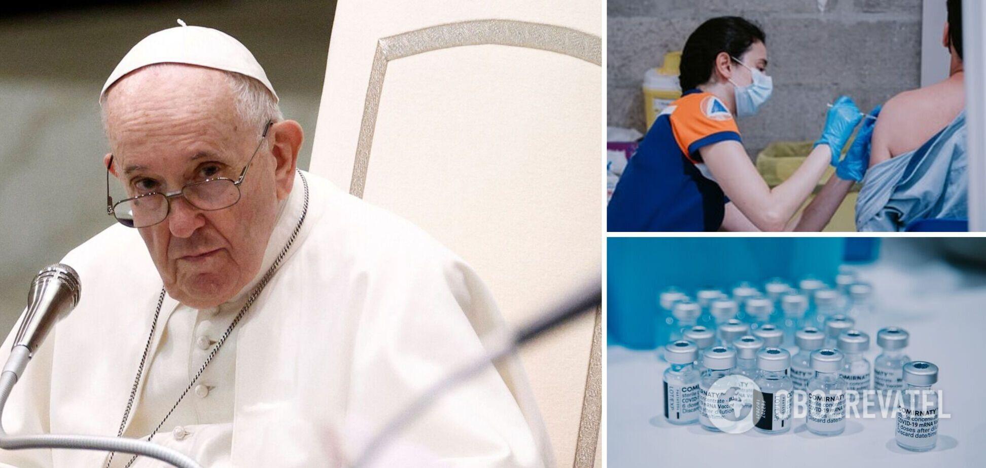 Папа Римский призвал людей вакцинироваться от COVID-19: это простой способ заботы друг о друге