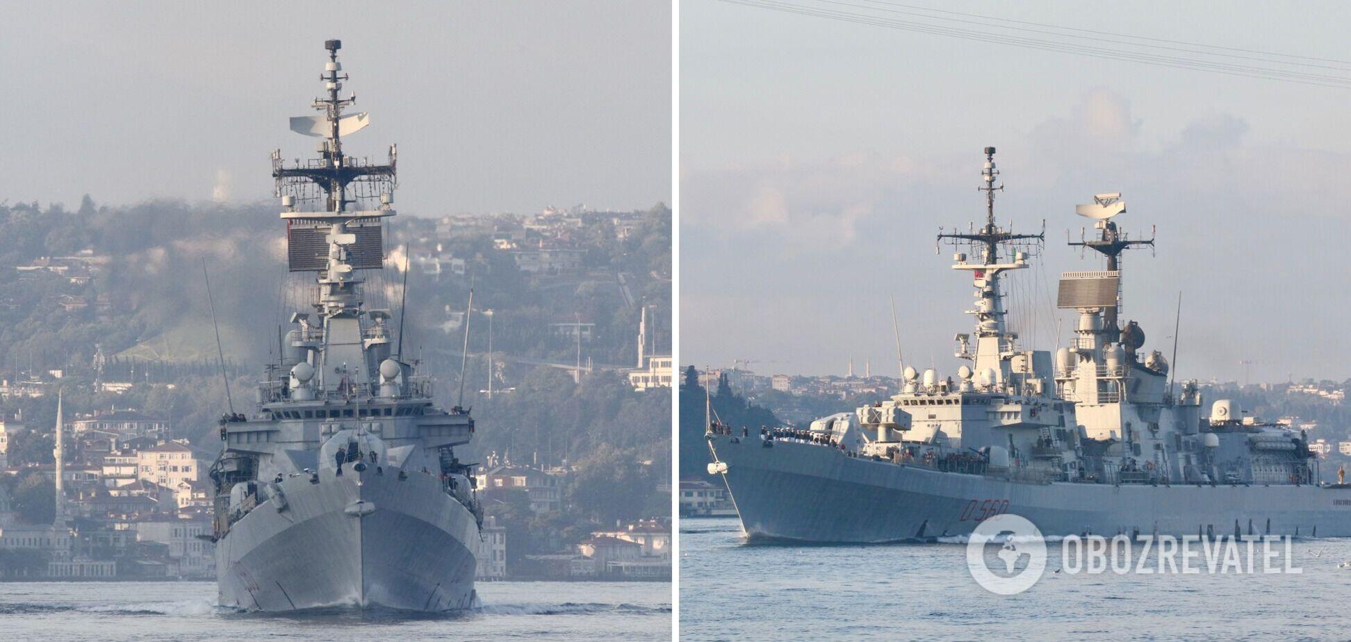 В Черное море вошел итальянский ракетный эсминец. Фото