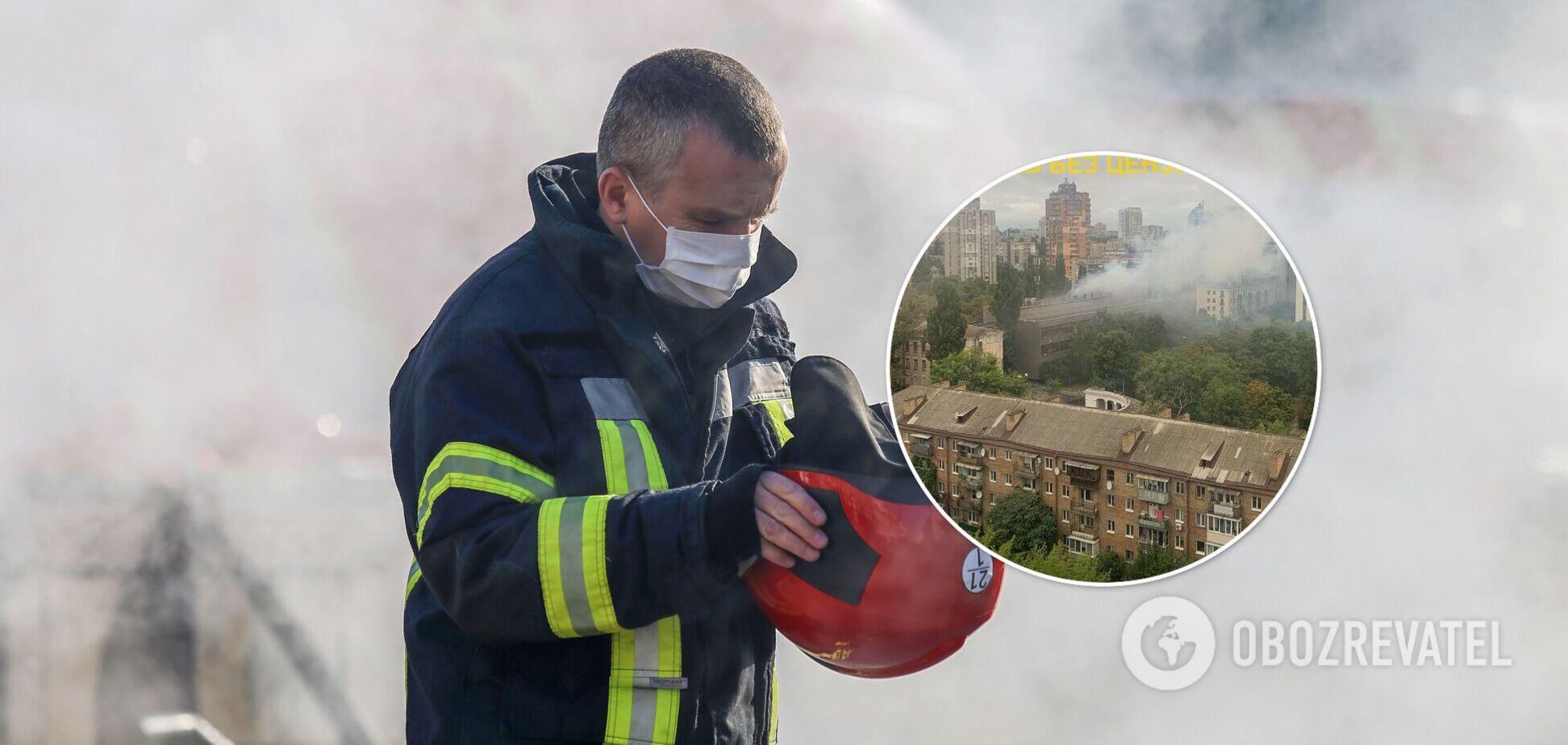 Благодаря действиям пожарных здание удалось спасти