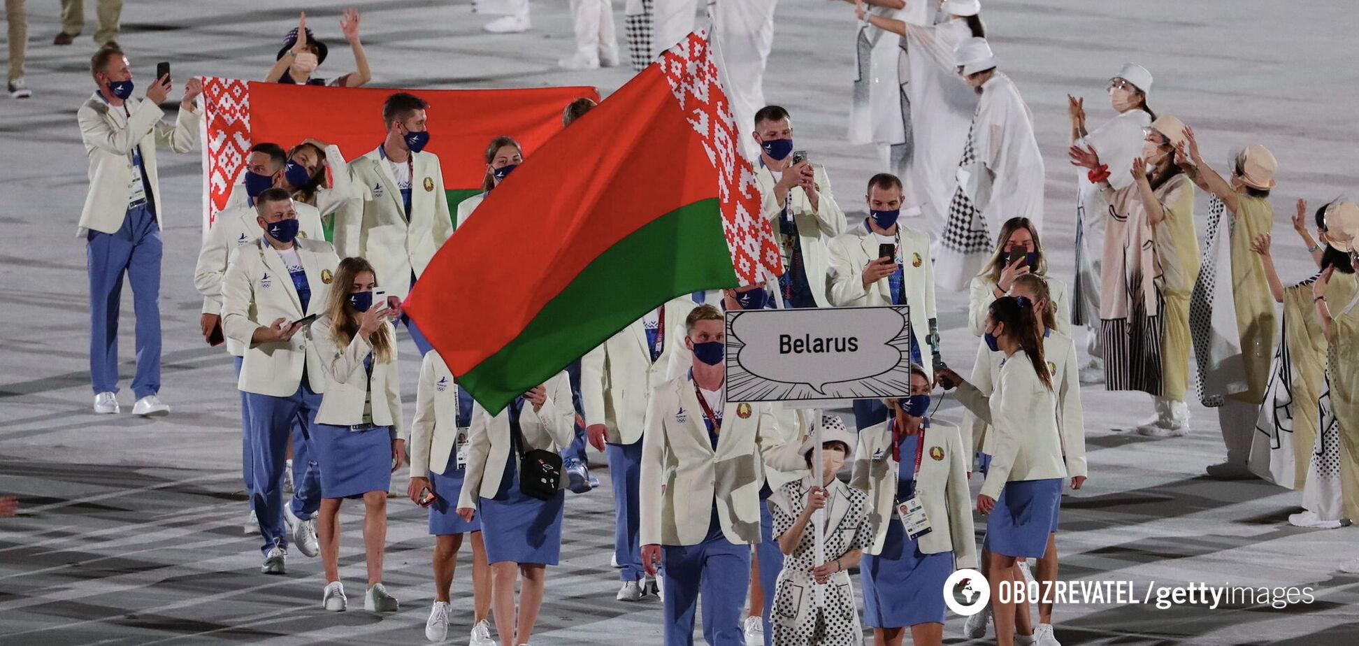 Білоруські спортсмени під час відкриття Олімпіади в Токіо