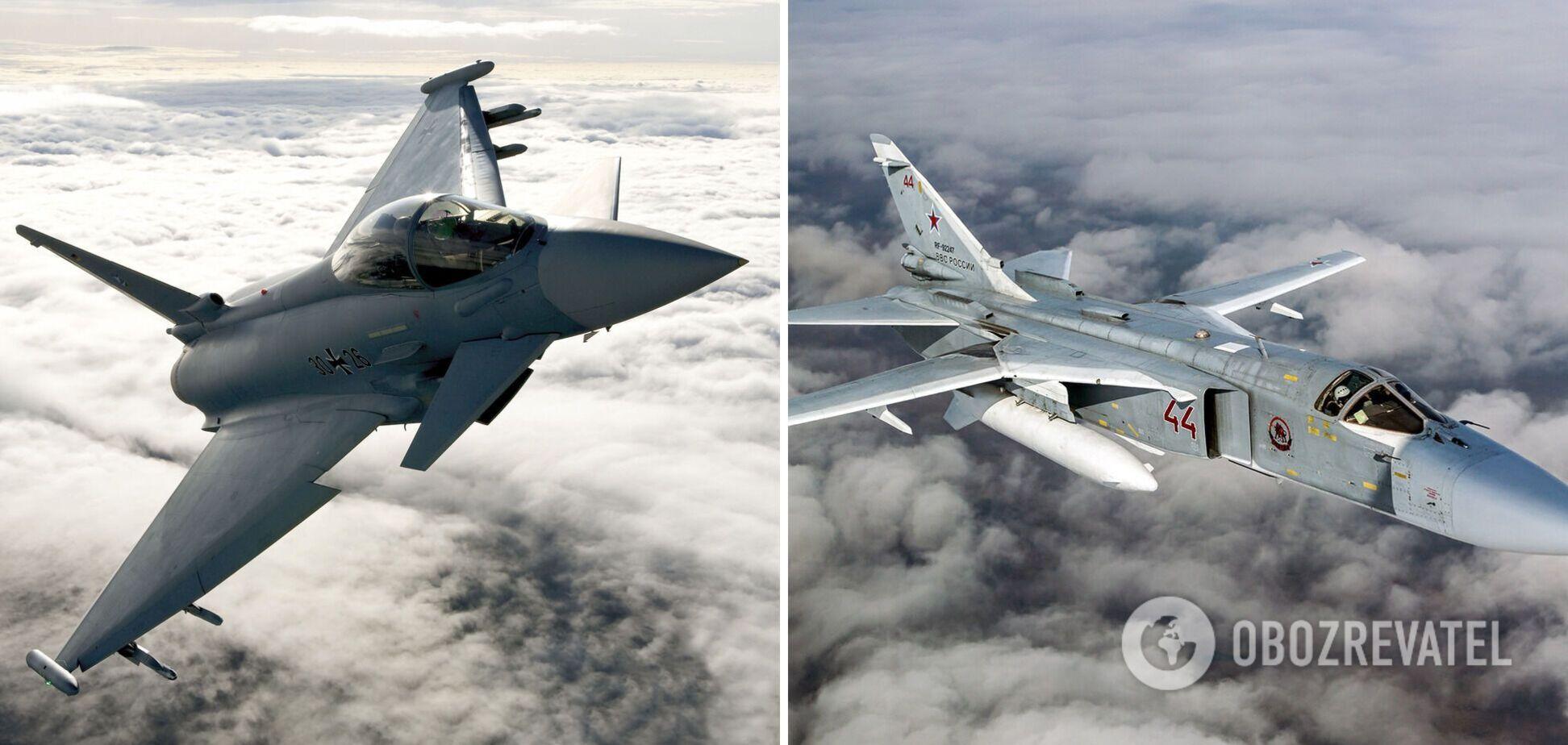 Eurofighter Typhoon і Су-24