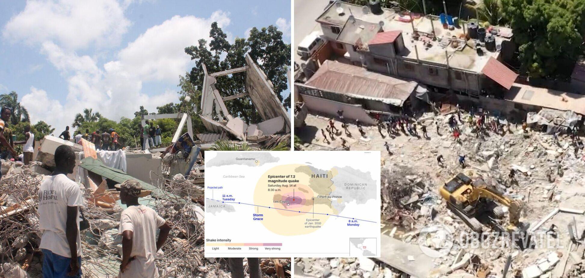 Количество жертв землетрясения на Гаити достигло почти 2 тысяч, регион накрыли мощные ливни. Фото