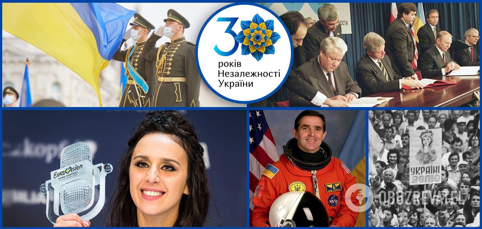 Гімн України в космосі, долар по 1,8 грн і зближення з Європою: найбільш знакові події за 30 років незалежності