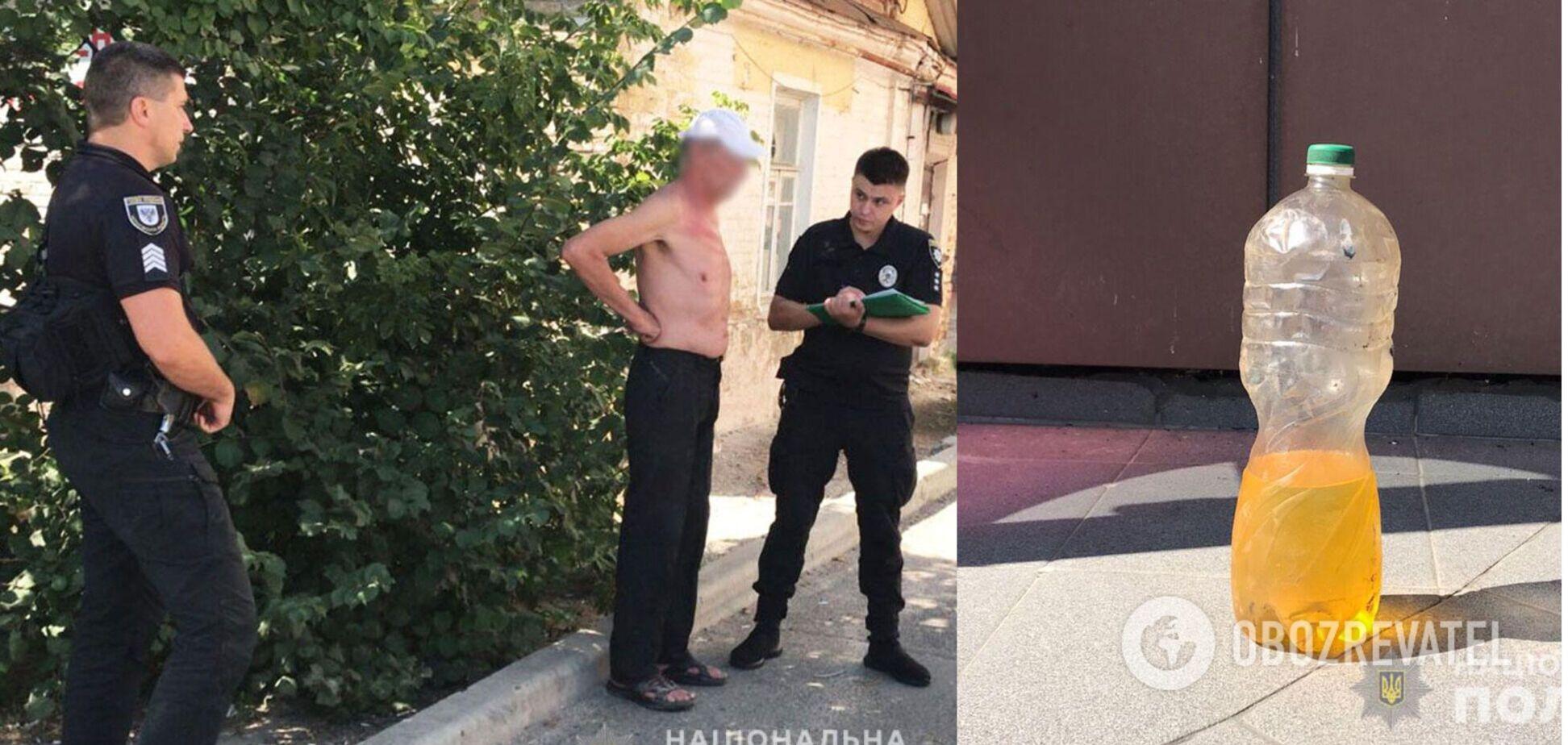 У Чернігові чоловік намагався підпалити себе і офіс облгазу, самоспалення вдалося попередити. Фото