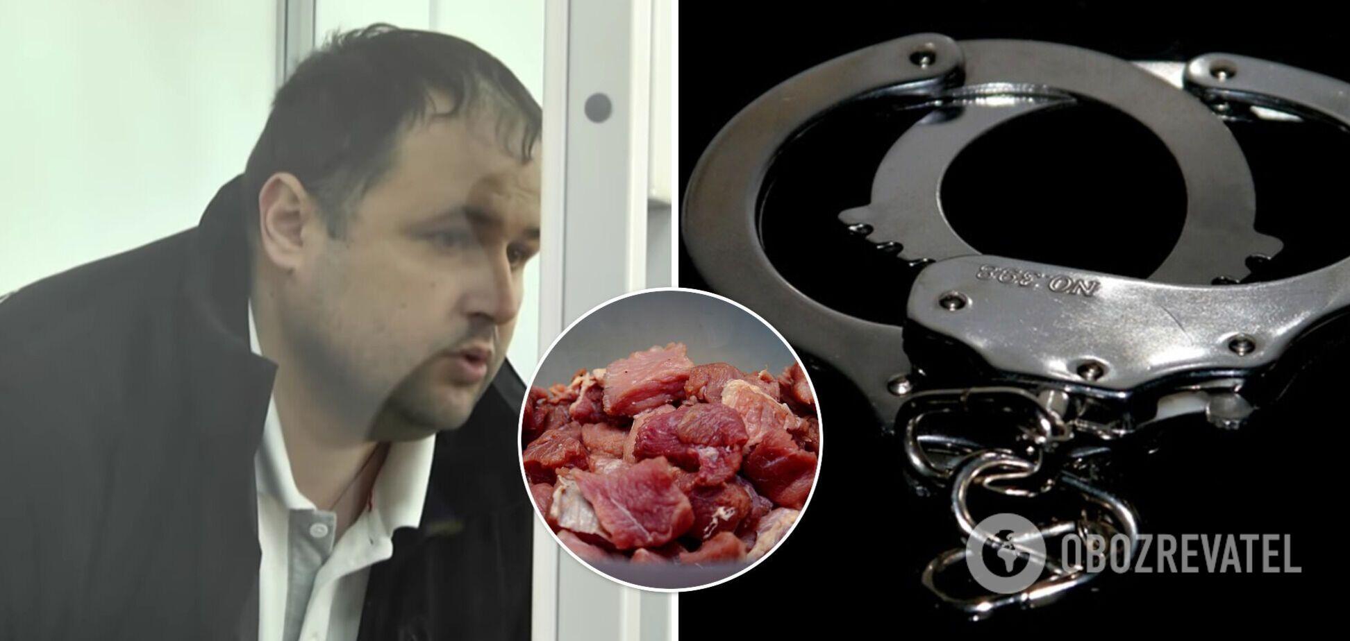 У Луцьку чоловік украв м'ясо в супермаркеті, прокурор вимагає для нього 5 років в'язниці. Відео