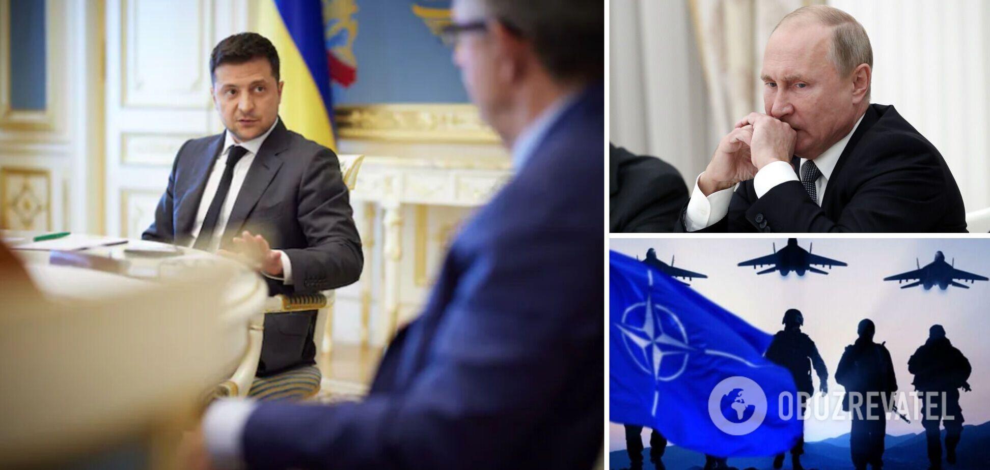 Зеленський пояснив, навіщо Україні вступ у НАТО, і розповів про ставлення до Путіна