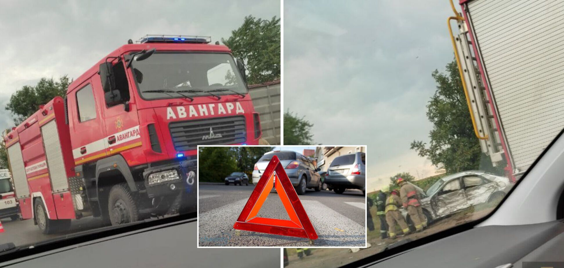 Под Одессой произошло масштабное ДТП с участием четырех авто. Фото и видео