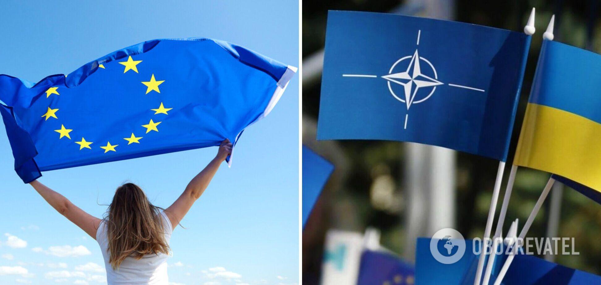 Соціологи розповіли, скільки українців підтримують вступ України в ЄС і НАТО