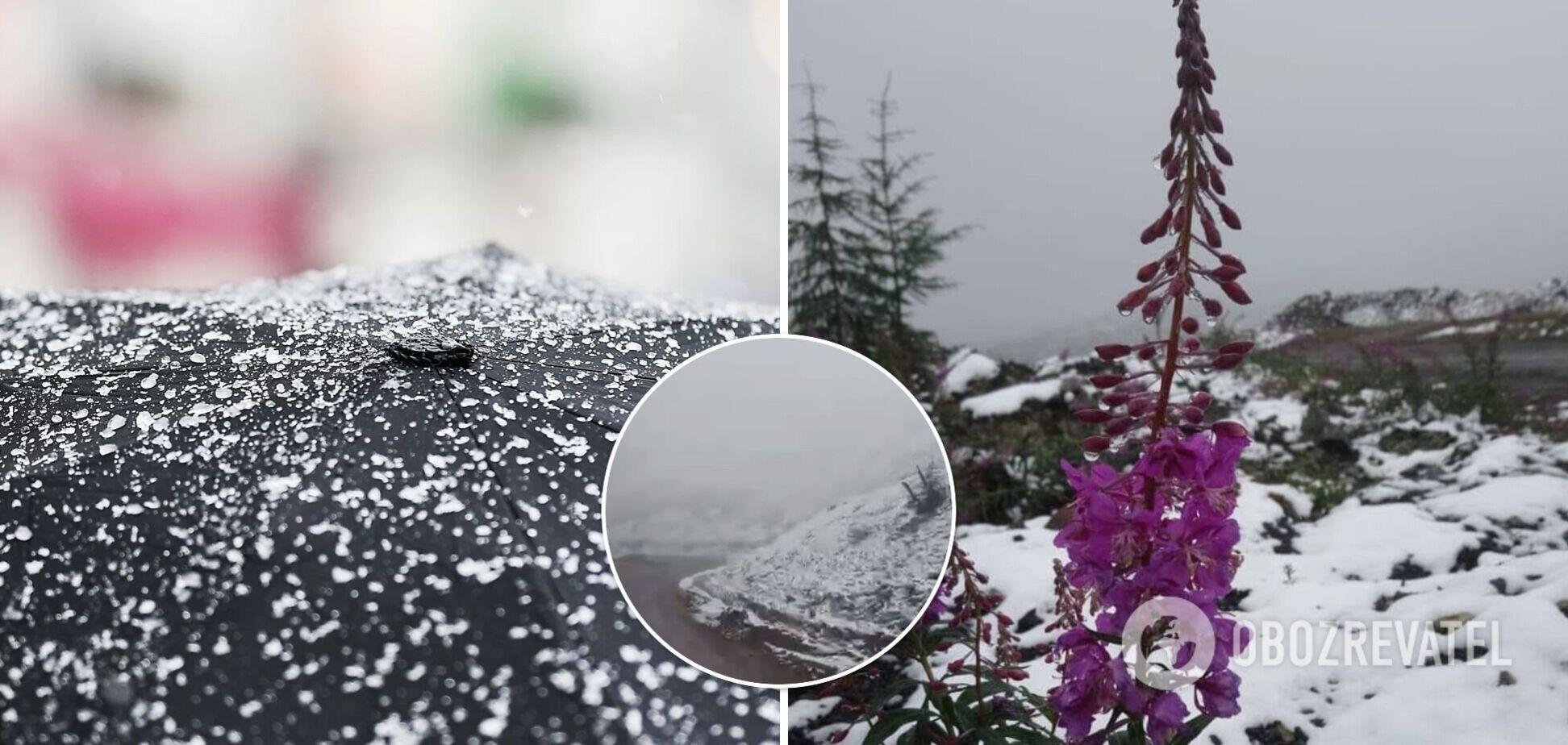 У Росії в одному з регіонів втретє за літо випав сніг. Фото і відео
