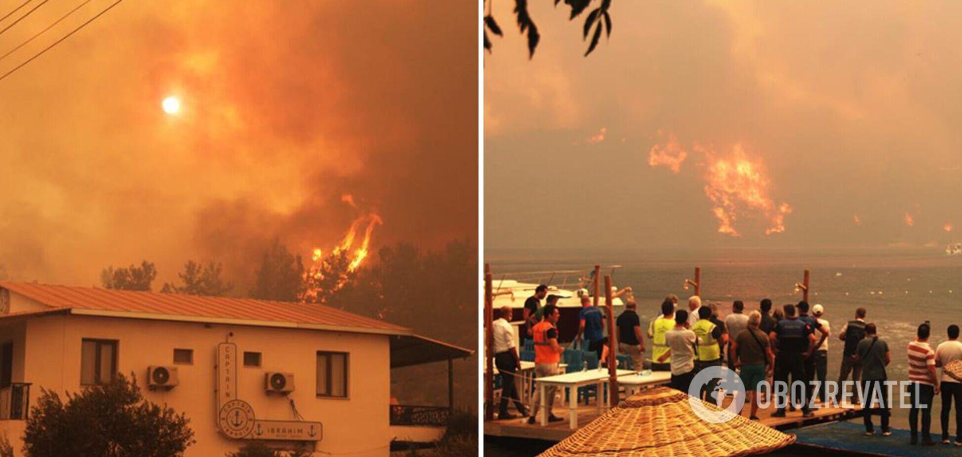 В Турции тушат лесные пожары