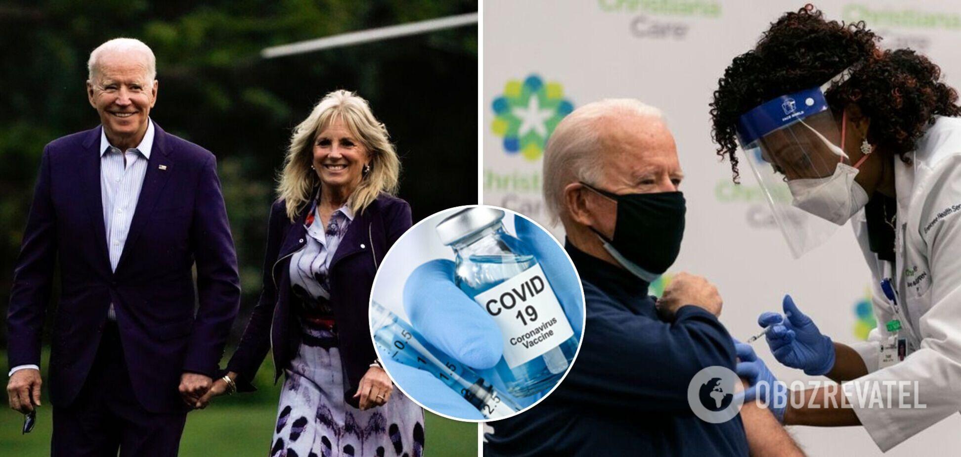 Байден із дружиною отримають третє щеплення від коронавірусу – ЗМІ