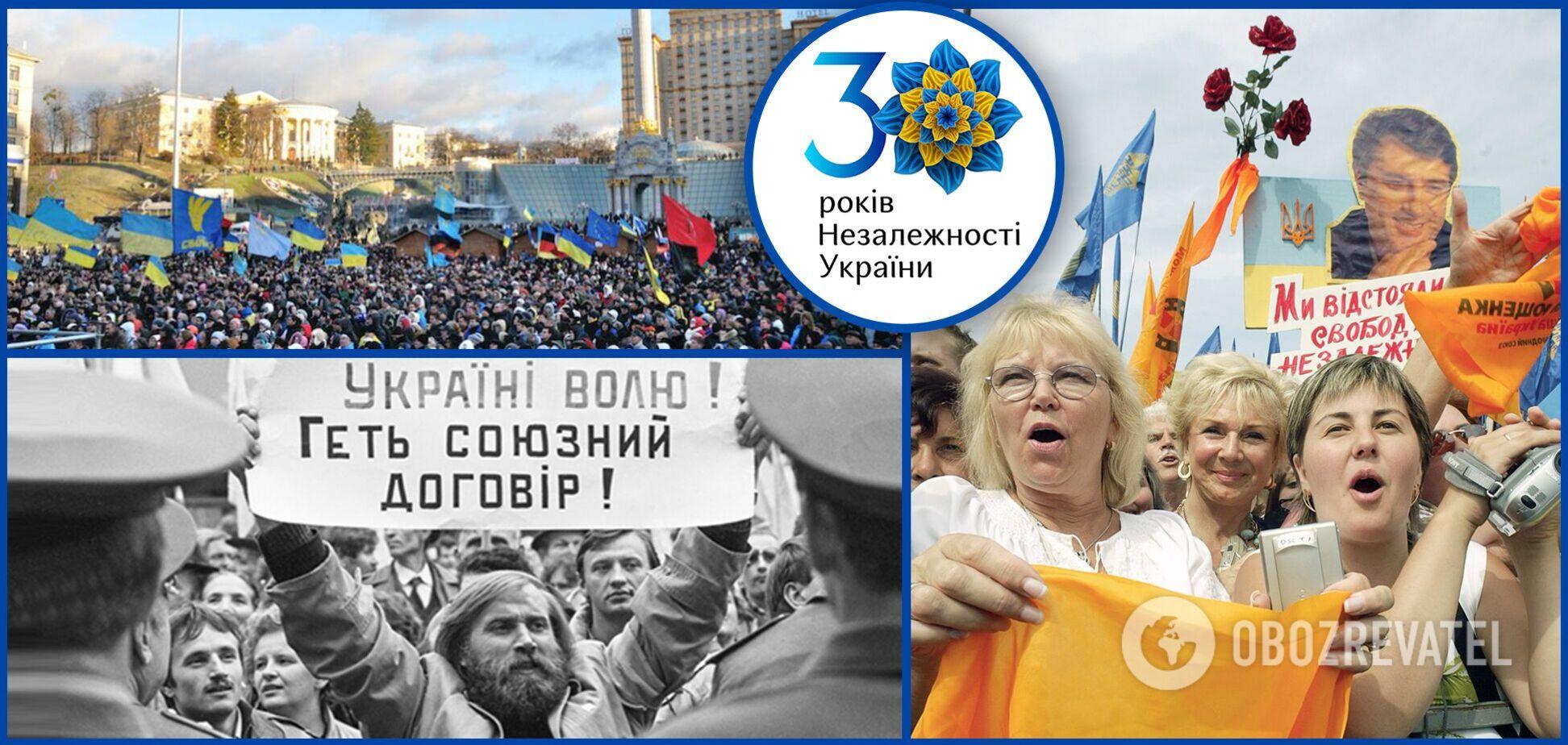 Революция на граните, Оранжевая революция и Революция Достоинства