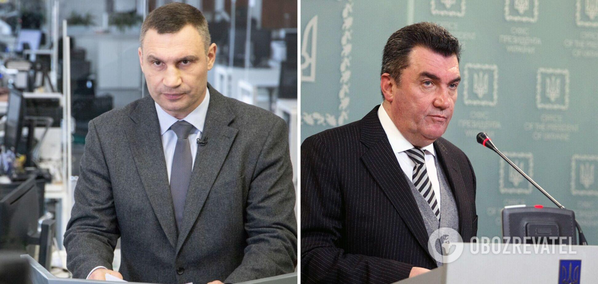 Данілов – про звільнення Кличка: РНБО не має таких повноважень